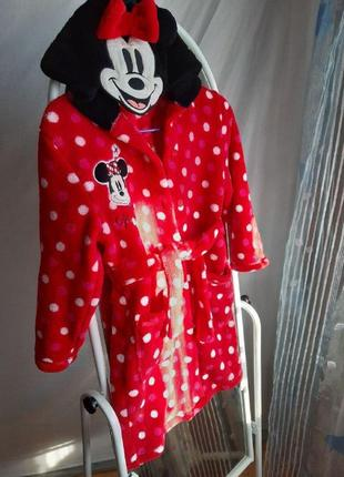 Мягкая пижама-халат для девочки disney