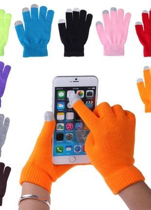 Атуальные теплые сенсорные перчатки тач скрин для мобильных телефонов