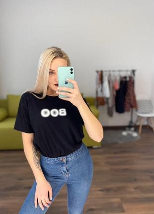 Крутая футболка черная свободная