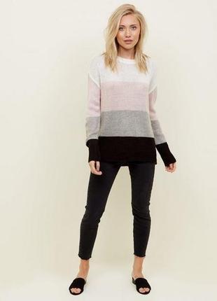Стильный оверсайз свитер color block new look