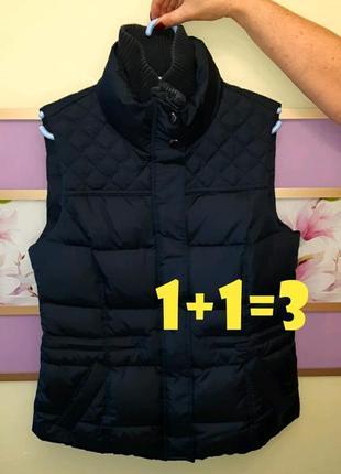 🎁1+1=3 стильная теплая жилетка дутик esprit под горло, пух/перо, размер 48 - 50