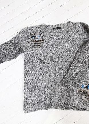 Пуловер, джемпер с ниткой  люрексом и вставками с пайетками бренд bisoubisou,s project