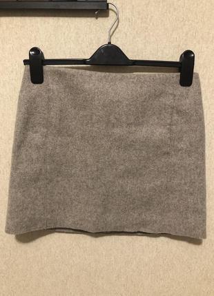 Cos шерстяная юбка мини