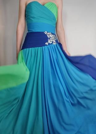Срочно ! шикарное воздушное выпускное платье, корсет, вечерние платье, вышивка
