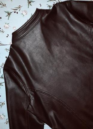 🎁1+1=3 стильная кожаная коричневая женская куртка marks&spencer, размер 50 - 524 фото