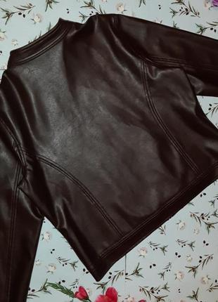 🎁1+1=3 стильная кожаная коричневая женская куртка marks&spencer, размер 50 - 523 фото