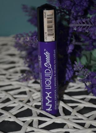 Жидкая помада для губ nyx professional makeup liquid suede cream lipstick