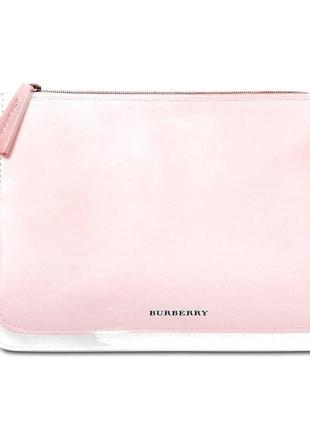 Клатч,косметичка burberry pink pouch bag clear baby rose .оригинал