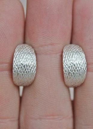 Серебряные серьги ника