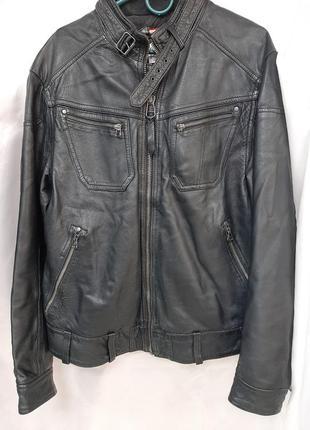 Куртка кожаная байкерская levi's, оригинал