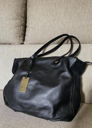 Новая шикарная кожаная сумка tosca blu