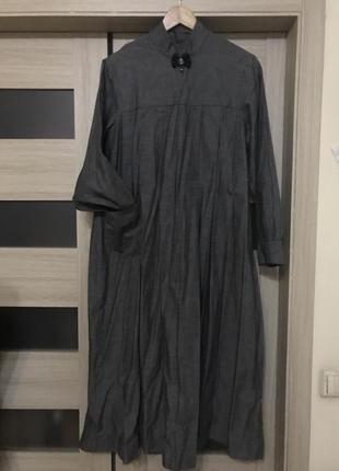 Стильное платье в стиле бохо, большой размер, лён!