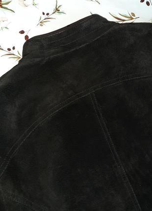 🎁1+1=3 фирменная черная кожаная куртка из натуральной кожи vero moda, размер 46 - 485 фото