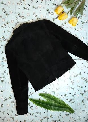 🎁1+1=3 фирменная черная кожаная куртка из натуральной кожи vero moda, размер 46 - 487 фото