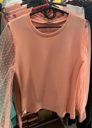 Нереальная блузка рубашка кофточка с пышными рукавами с органзы ! цвета разные