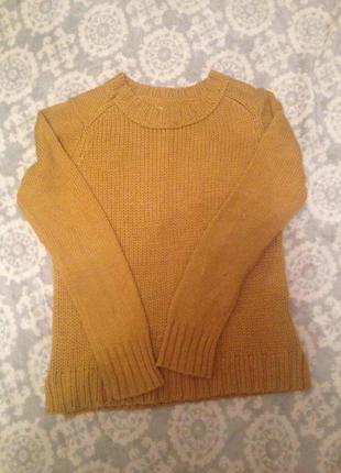 Cупер модный свитер в горчичном цвете