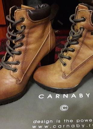Финальная цена!!! продам новые кожаные ботинки carnaby