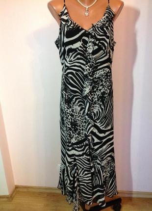 Фирменное длинное жоржетовое платье/20/ brend marks& spencer