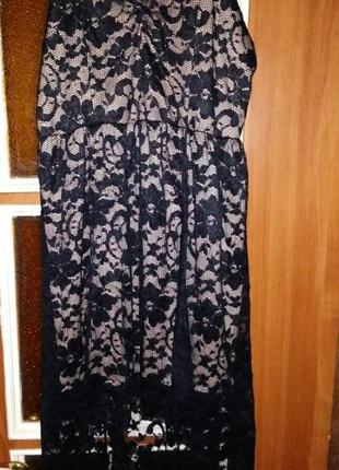 Платье со шлейфом кружево