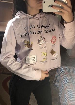 """Милая пайта толстовка """"things that make me happy"""""""