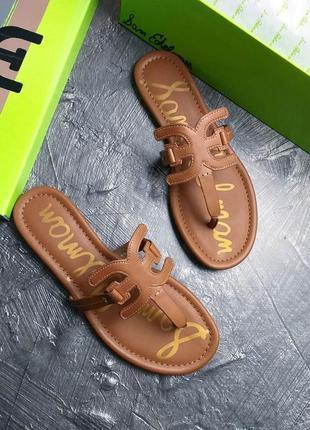 Sam edelman оригинал кожаные коричневые сандалии