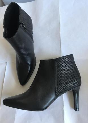 Кожаные ботильоны bianco (дания) # кожаные ботинки