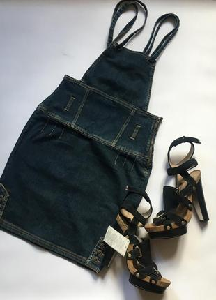 Стильний джинсовий сарафан p.s