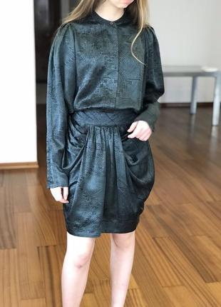 Дизайнерское платье malene birger, натуральный шёлк 😍