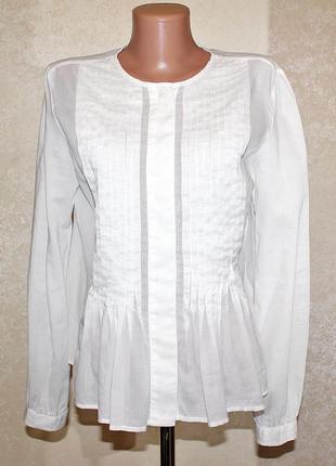 Нежная белоснежная батистовая блуза gap размер м-l