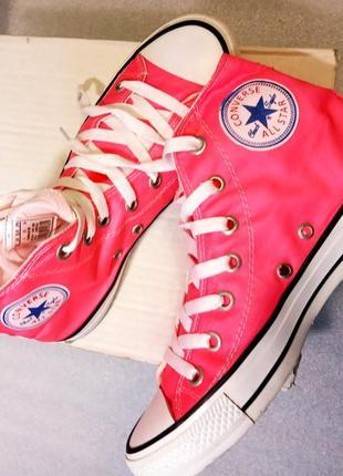 Высокие красные кеды converse all star eur 38.uk 5.