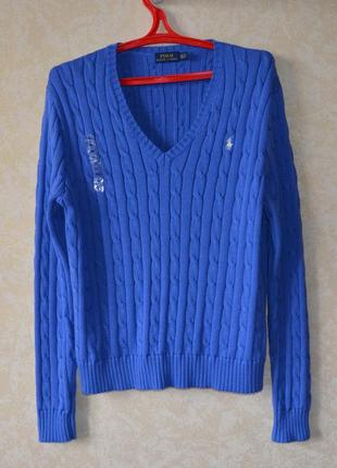 Polo ralph lauren оригинал свитер брендовый в косах