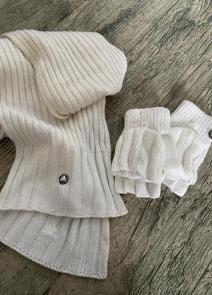 Шарф и перчатки adidas