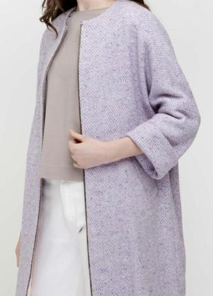 Кардиган- пальто,шерсть, размер 464 фото