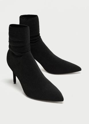 Zara туфли носки полуботинки на каблуке