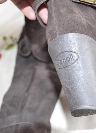 Высокие сапоги ботфорты замшевые кожанные scholl5 фото