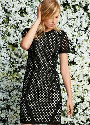 Next роскошное ажурное платье из хлопка, р.12-40, s-m