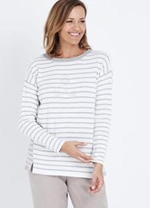 Vero moda кофта джемпер 100%хлопок в бело серую полоску