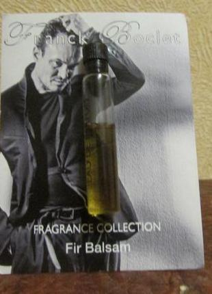Парфюмированная вода fir balsam franck boclet остаток 1,5 мл.