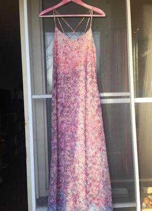 Длинное платье bershka