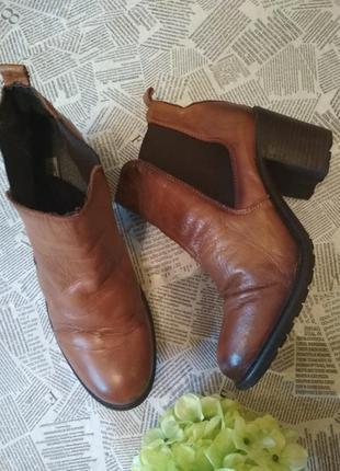 Ботинки buffalo натуральная кожа