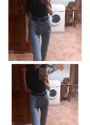 Штаны хлопок коттон h&m/divided высокая талия в полосочку, мом/mom брюки лето