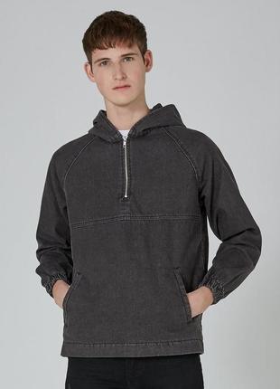 Стильная джинсовая куртка  худи topman