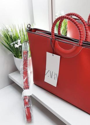 Zara сумка оригинал красная