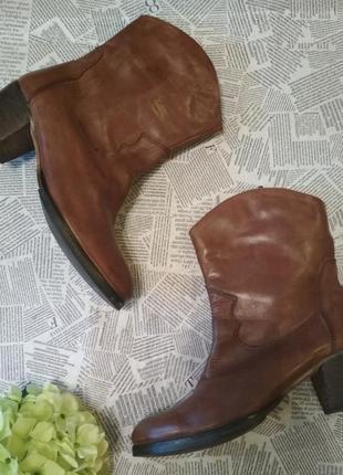 Ботинки натуральная кожа устойчивый каблук