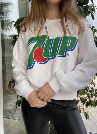 Свитшот белый с лого 7up от h&m