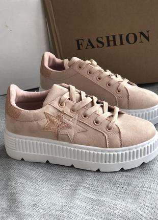 Розовые спортивные криперы, кроссовки5 фото