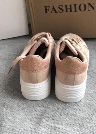 Розовые спортивные криперы, кроссовки4 фото