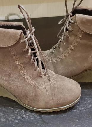Ботинки замшевые для весны и осени