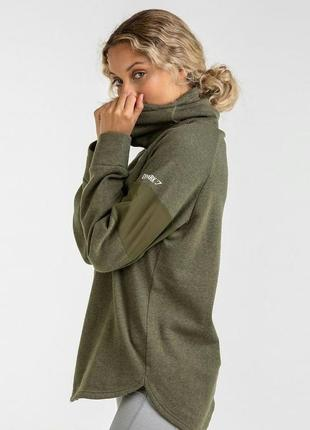 Худи с горлом gymshark slouch hoodie цвета хаки