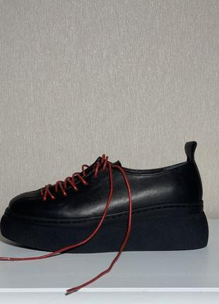 Ботинки на платформе sintezia кожаные